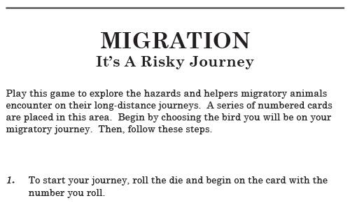Migration Game