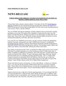 WMBD - Press Release 2019